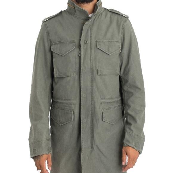 another chance 95073 70f7d Alpha Industries Field Coat M-65 Olive Jacket